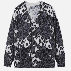 🍁Five Four x Nick Wooster Leopard Print Cardigan